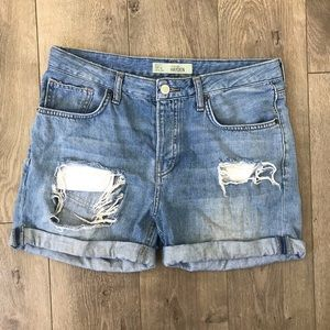 Topshop Moto Hayden Button Fly High Rise Shorts 6